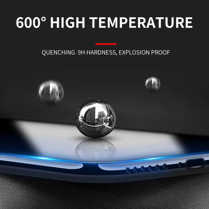 Image 2 - iHaitun Luxury 6D Glass For iPhone 11 Pro XS MAX XR X Screen Protector Curved Tempered Glass For iPhone X 10 7 8 Plus Cover Film-in Phone Screen Protectors from Cellphones & Telecommunications