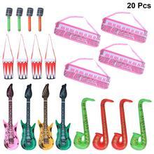 20 шт надувные инструменты игрушка электронное пианино барабан гитара Микрофон для саксофона музыкальные игрушки инструменты для детей