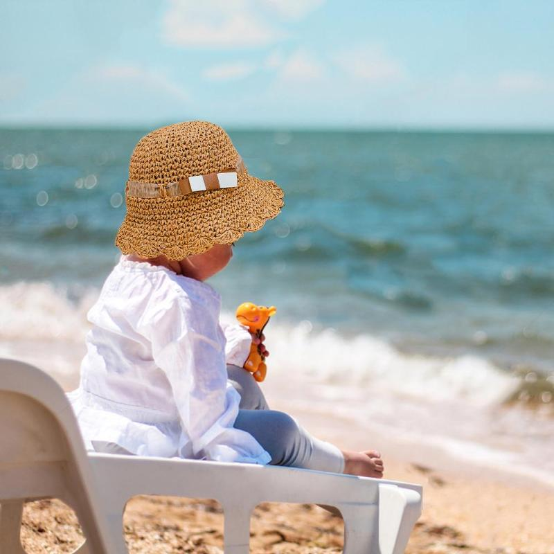 Cute Toddler Baby Straw Sun Hat Summer Outdoor Beach Holiday Bucket Caps Promoting Health And Curing Diseases