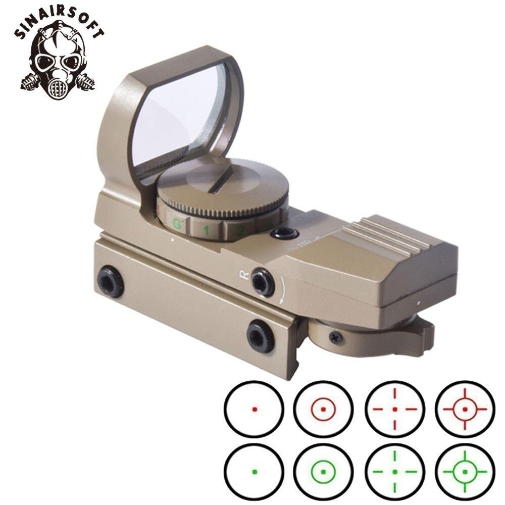 Горячая 11 мм 20 мм рельсовая оптика голографическая Красная Зеленая точка зрения рефлекс 4 сетка тактический прицел для AEG Охотничьи аксессу...