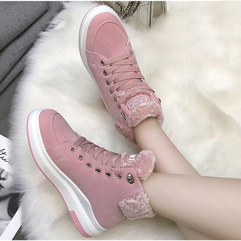 donna beige in rosa Fujin per il nero Stivale in donna il scamosciata Stivaletti tenere calde peluche il scarpe Stivale invernale Confortevole per pelle dBUcwx