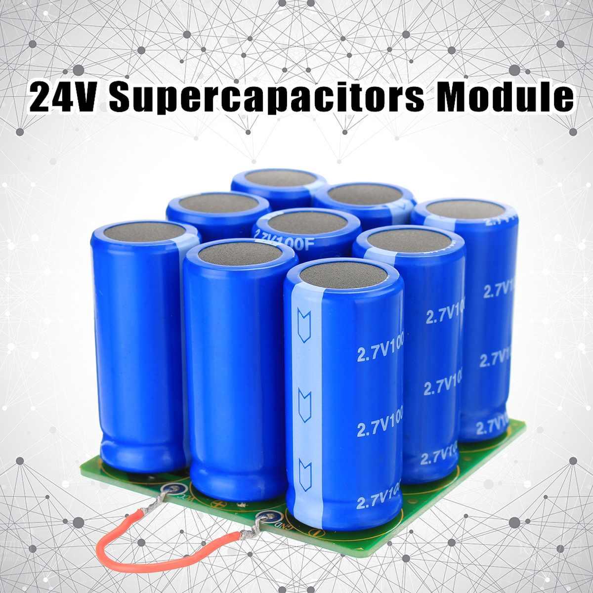 24V Supercapacitors Module Start Power Motor Start Super Farad Capacitor module 9X 2.7V 100F Electronic Components Supplies24V Supercapacitors Module Start Power Motor Start Super Farad Capacitor module 9X 2.7V 100F Electronic Components Supplies