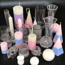 Eye-catching Clear Candle Mold Soap Plastic DIY Clay Craft Scented Home Party Decoration Making Model