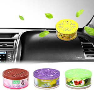 Image 1 - 1pcs Air Freshener In The Car Interior Decoration Fruity Car Perfume Solid Indoor Deodorizing Scent Fragrance Car Accessories