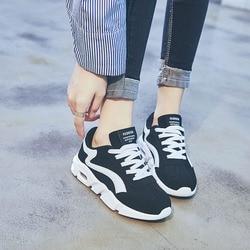 Sneakers Women Shoes Casual Female Tenis feminino 2019 Spring Flats Air Cushion Increase Shoes Black White Comfortable Femme