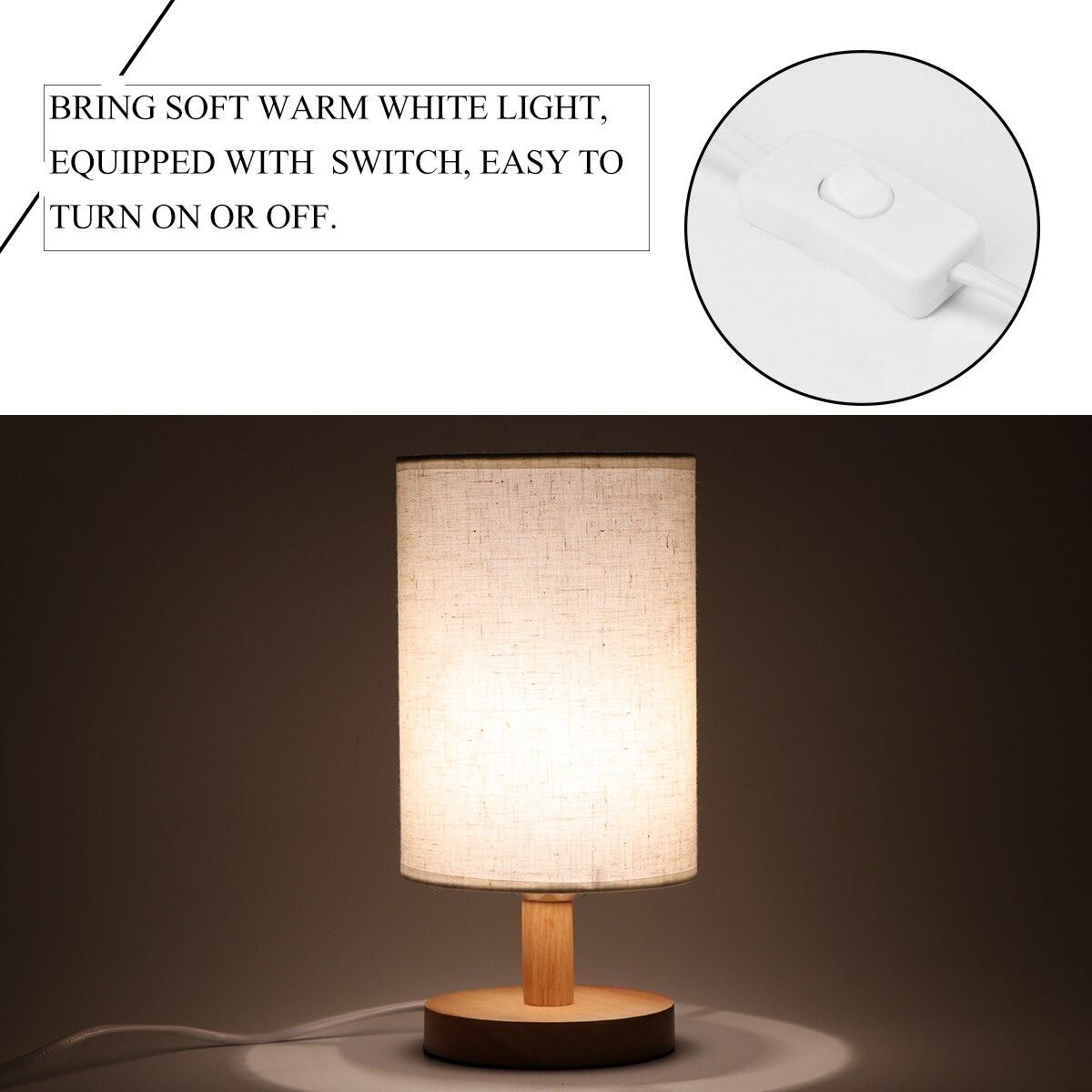 10 Watt Rgb W E27 Led-lampe Bühne Lampe Schreibtisch Lampe Mit Stoff Schatten Massivholz Basis E27 Für Schlafzimmer Wohnzimmer (birne Ist Nicht Enthalten) Zu Verkaufen