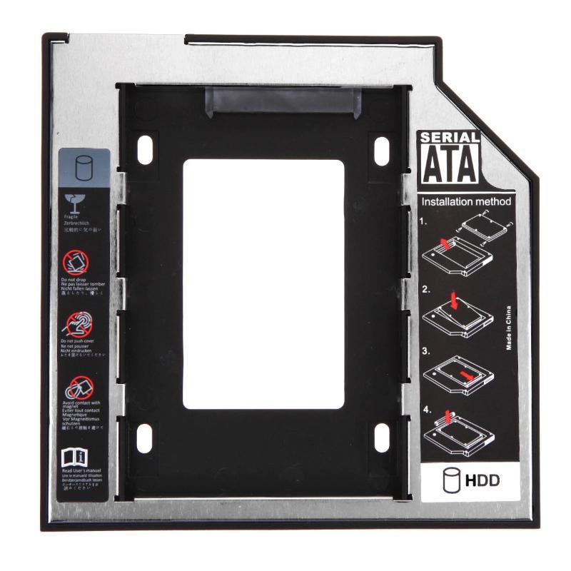 Hot Hard Disk Drive Bay Universal 2.5 2nd 9.5mm Ssd Hd SATA Hard Disk Drive HDD Caddy Adapter Bay For Cd Dvd Rom Optical Bay