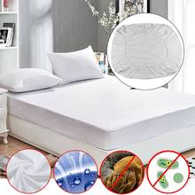 Waterproof Mattress Protector Cover Anti Dust Mite Breathable Fitted Bed Sheet 160x200+30cm/200x200+30cm Machine Washable