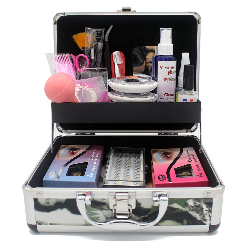 Stars Color Professional Faux Eyelash Extension Training Kits Individual Mink Eyelashes Grafting Kit Glue Debonder Tweezer