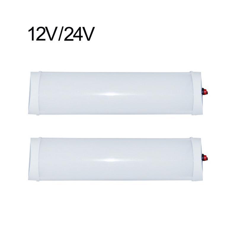 12V 24V Car Interior LED Light Bar Trunk Reading Lamp LED Three-row Roof Light For Van Lorry Truck Camper Boat
