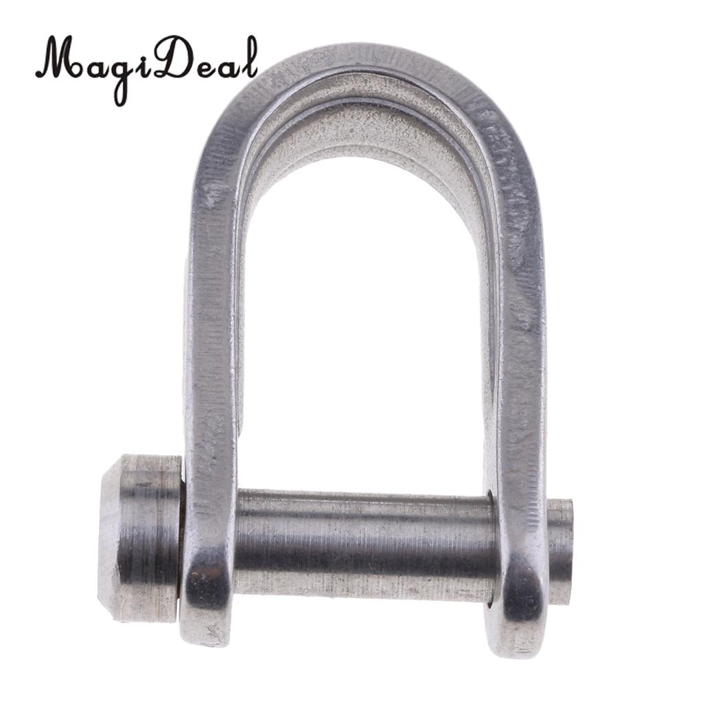 MagiDeal Marine 7mm 316 Stainless Steel D Shackle For Marine Canoe Boat Shade Sail Dinghy Yacht Replacement Parts Accessories
