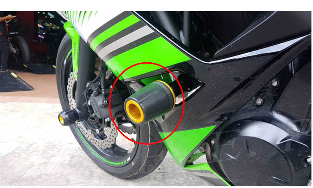 black Worldmotop Motorcycle Frame Sliders Protector Guard engine Frame Crash Protectors For Kawasaki Ninja 250 ZX6R ZX10R 636R H2 H2R