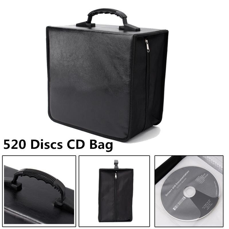 Mapa Do Mundo Impresso Titular portátil 520 Disc CD DVD Armazenamento Carry Durável Saco Carteira Carteira DJ Album Coletar Armazenamento CN /RU ESTOQUE