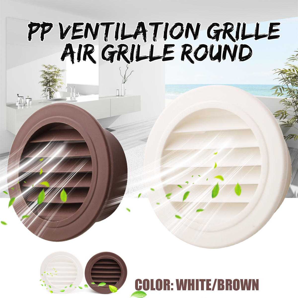 MTGATHER Round Air Vent ABS Louver Grille Cover PP Ventilation Grille Air Grille 100mm Heating Cooling & Vents