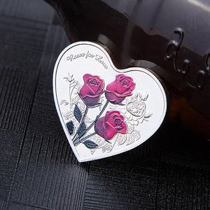 1Pcs Heart Rose Commemorative Coin I Love You Emulation Valentine's Day Gift Wedding Favor Decor Non Currency Coins