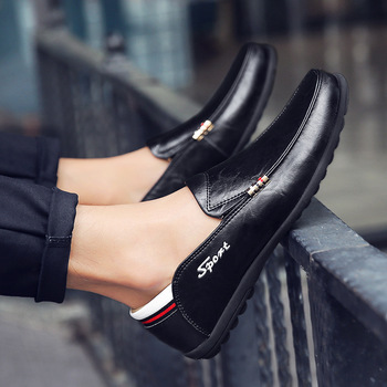AlexBu 2020 New Men's Genuine Leather Shoes Man Casual Loafers Shoes Slip On Spring Autumn Fashion Luxury Brand Man Shoes 5