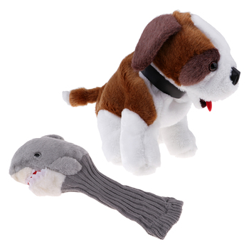2 Pieces Driver Cover Club Head Protector 460 Cc Golf Headcovers for Novelty Doggiy Style