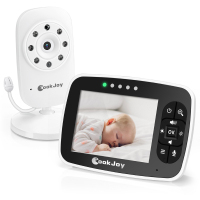FIMEI COOKJOY SM35RX Baby Sleeping Monitor 2.4GHz 3.5 Inch Temperature Monitor With LCD Screen Music Radio 2 Way Audio Talk