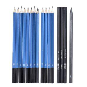 Image 2 - 33個鉛筆プロの描画スケッチ鉛筆キットスケッチグラファイト炭鉛筆スティック消しゴム文房具描画サプリ
