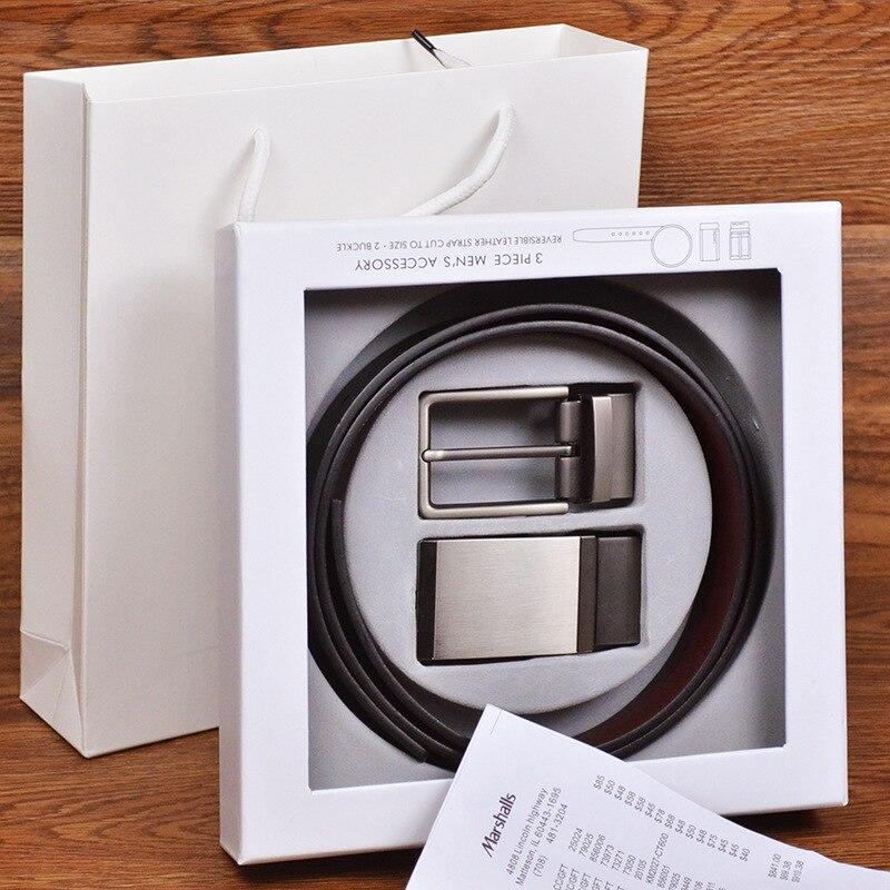 Belt Suit New Automatic Buckle Pin Buckle Luxury Leather Black Belts For Men Formal Long Belts Men's Luxury Belt Gift Box Set