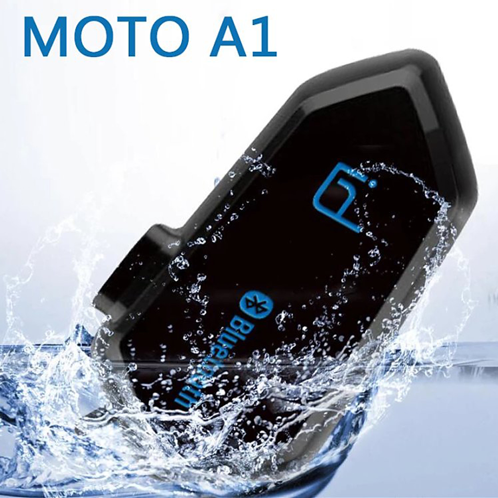 IPX6 Waterproof Boomless Microphone Noice Canceling V4 1 Motorcycle Helmet Bluetooth Communicator Voice Prompt BT Headset