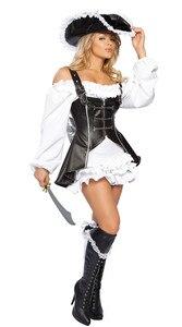 Image 4 - Halloween Gothic Pirate Costume Deluxe Femminile Capitano Fantasia Vestito Operato