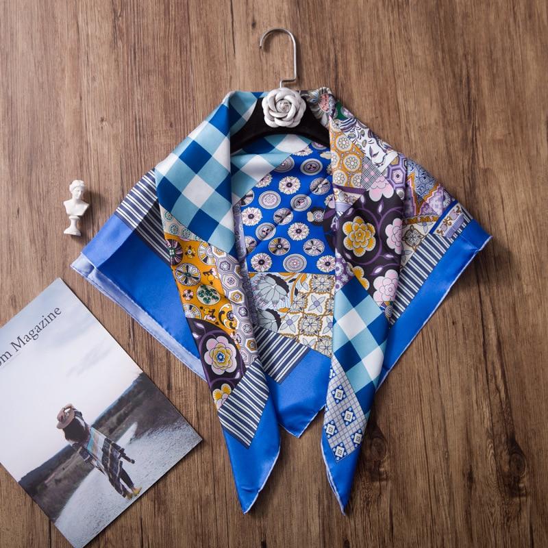 100 Silk Twill 19 New Scarf Women Luxury Brand Headband Shawl Scarves Hijab Wraps Foulard Random