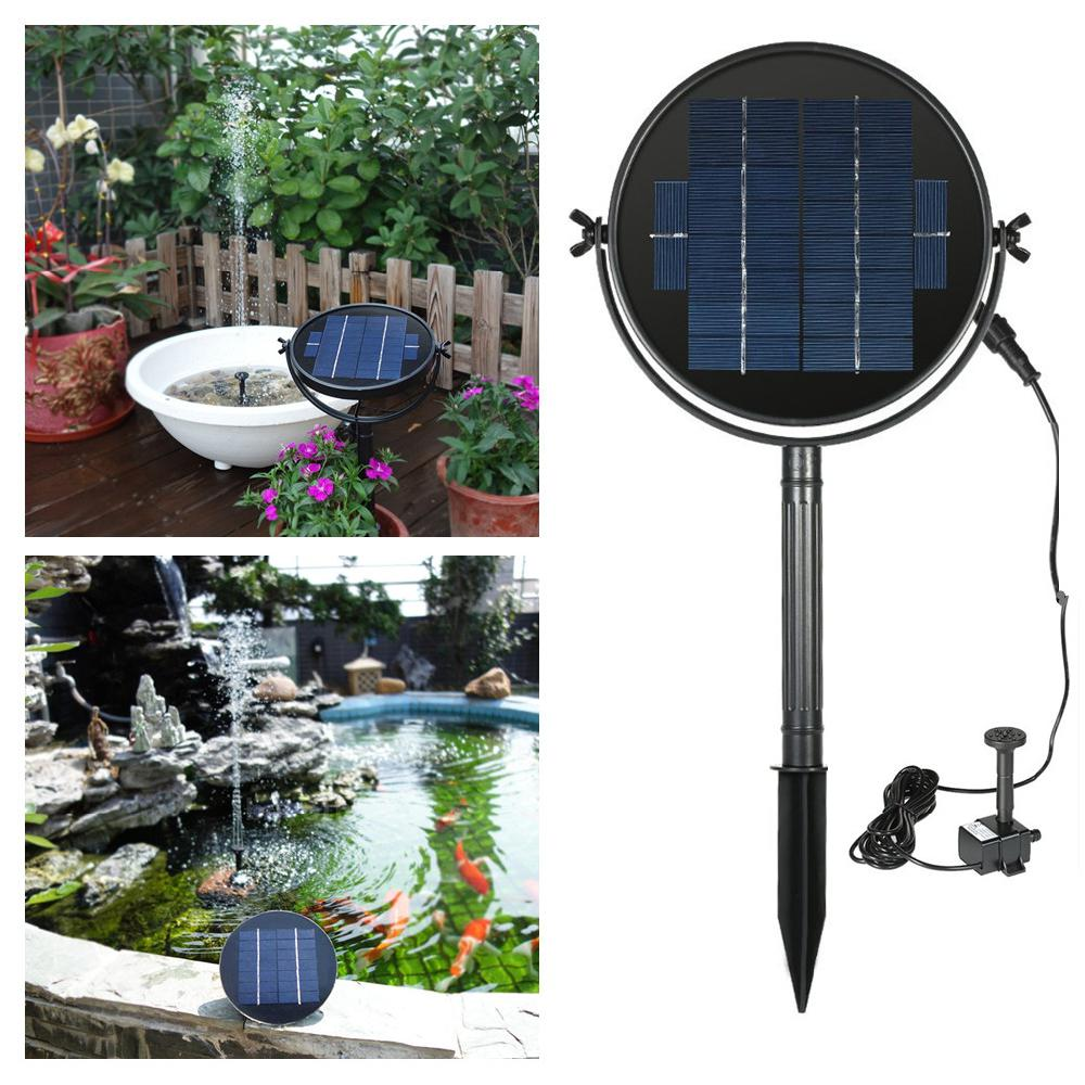waterproof solar standing water fountain 9v 2w 3w for. Black Bedroom Furniture Sets. Home Design Ideas