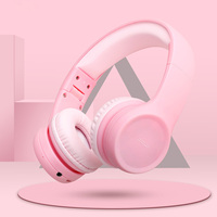 Portable Wireless bluetooth Kids Headphone 85dB Foldable Children Child Safely Over Ear Adjustable Headset with Mic