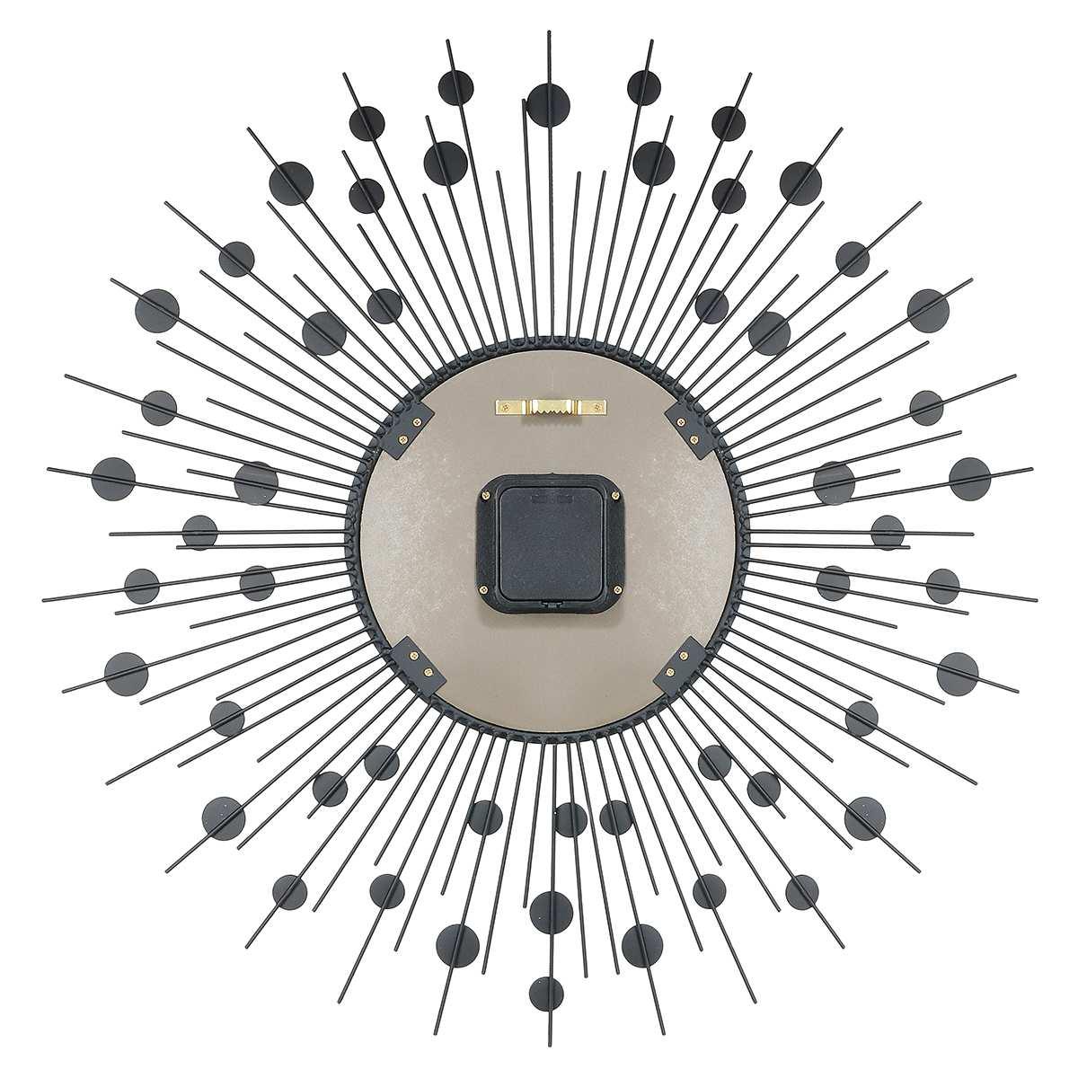 2019 luxe diamant horloge murale fer Art métal cristal 3D grande horloge murale ronde montre miroir diamant suspendus horloges décor à la maison - 4