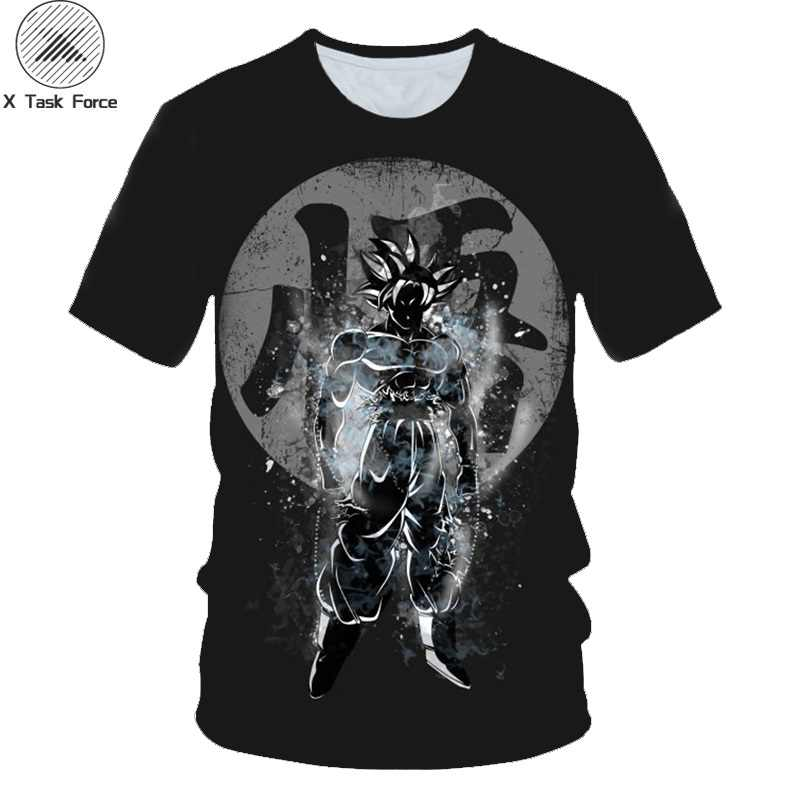 Новый Dragon Ball Z футболки для мужчин лето 3D принт Супер Saiyan Сон Гоку черный Вегета Битва Dragonball Повседневная футболка футболки