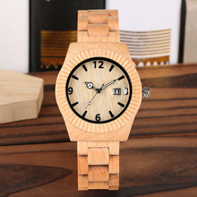 Natural Wood Watch for Men Creative Design of Wooden Watches Bangle for Friends Full Wooden Watch Men Quartz Calendar Function цена и фото