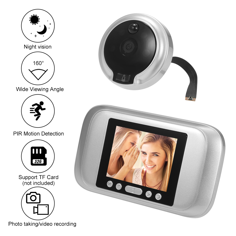 Digital Video Auto Tür Viewer Auge Türklingel Guckloch Intercom Ir Kamera Monitor Rermote Control Motion Detection Nachtsicht Audio Intercom Türsprechstelle