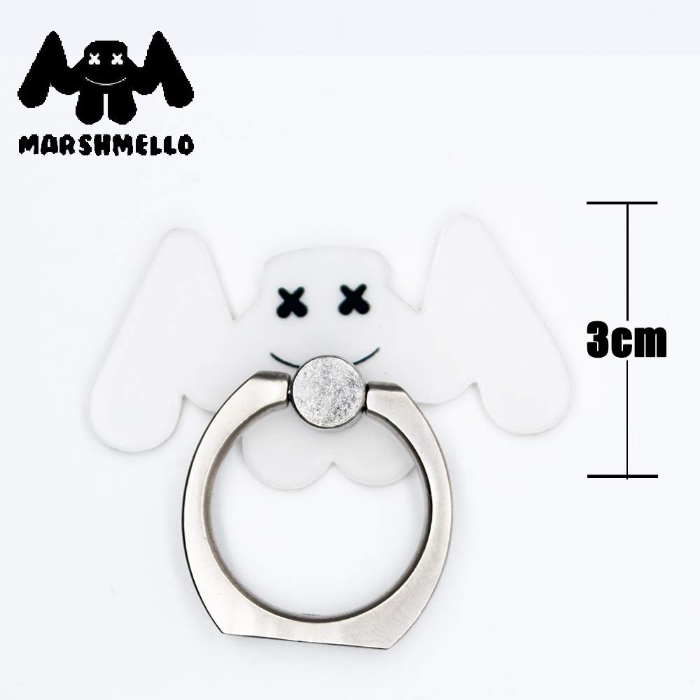 OHCOMICS Hot Anime Cartoon Marshmello 360 Degrees Square Ring Stand Mount Holder Mobile Phone Stents Xmas Gifts bead