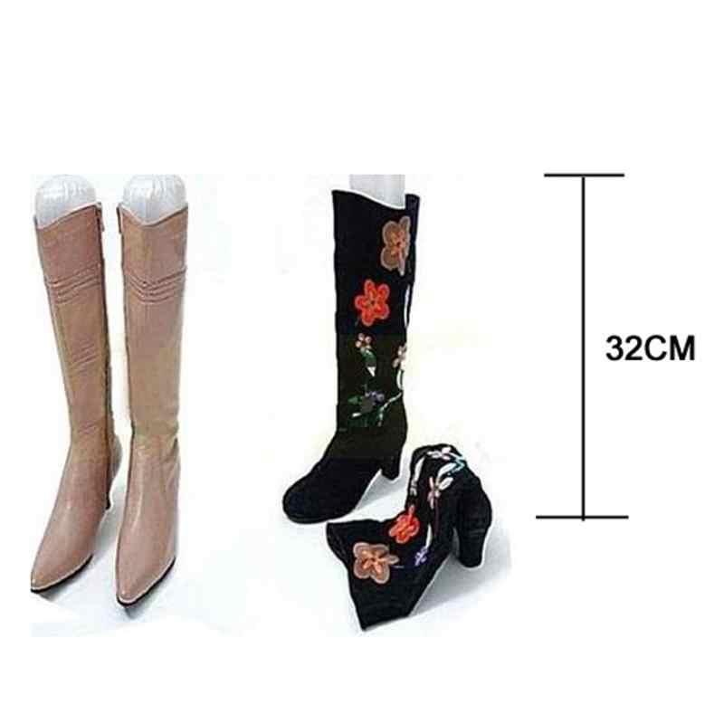 سيدة نفخ طويل حذاء الأحذية حامل بلاستيك حامل دعم المشكل نقالة