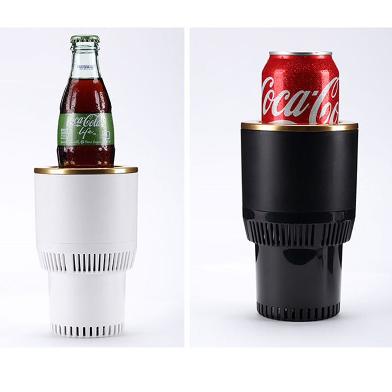 Car Hot And Cold Cup Freezing Heating Portable Hot Cup Drink Holder Beverage Can Cooler(China)