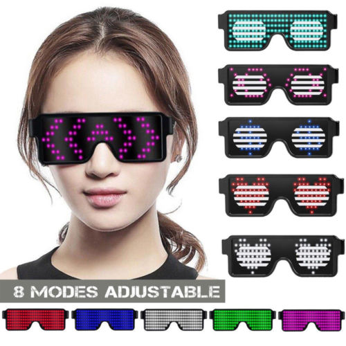 Well-Educated Led Wire Glasses Light Up Glow Sunglasses Eyewear Shades For Nightclub Party Night Vision Glasses Men's Glasses