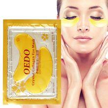 20 sztuk = 10 paczek do pielęgnacji oczu leczenie i maska złoty kryształ kolagen do pielęgnacji skóry oczu ciemne koło wybielanie maska na twarz efekt pielęgnacji tanie tanio Kobiet Anti-aging weight 9g Eye Mask as the picture Chiny AMEIZII