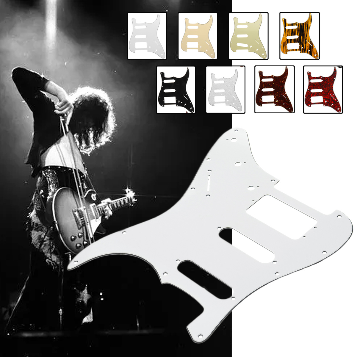 3ply HSS Humbucker Electric Guitar Pickguard Scratch Plate 3ply 11 Hole HSS For USA/MEX Fender for Stratocaster Strat(China)
