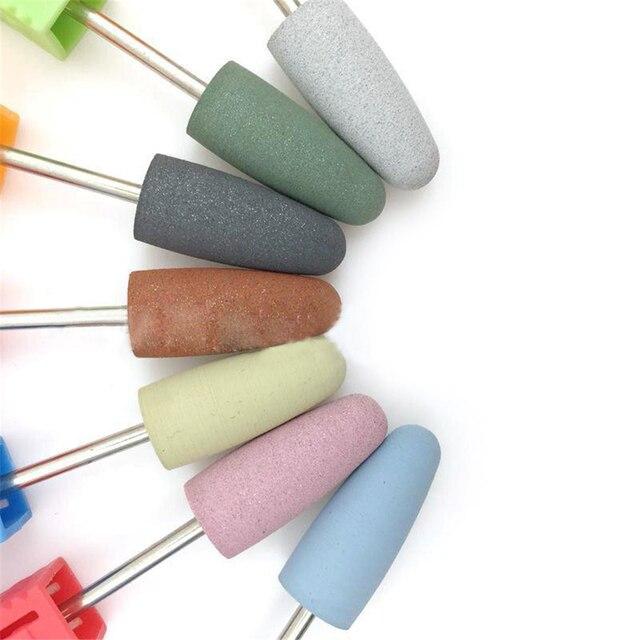 7 colors Ceramic Nail File Rubber Nail Drill Bits Flexible Polisher Manicure Machine Nail Accessories Pedicure Strawberry Style