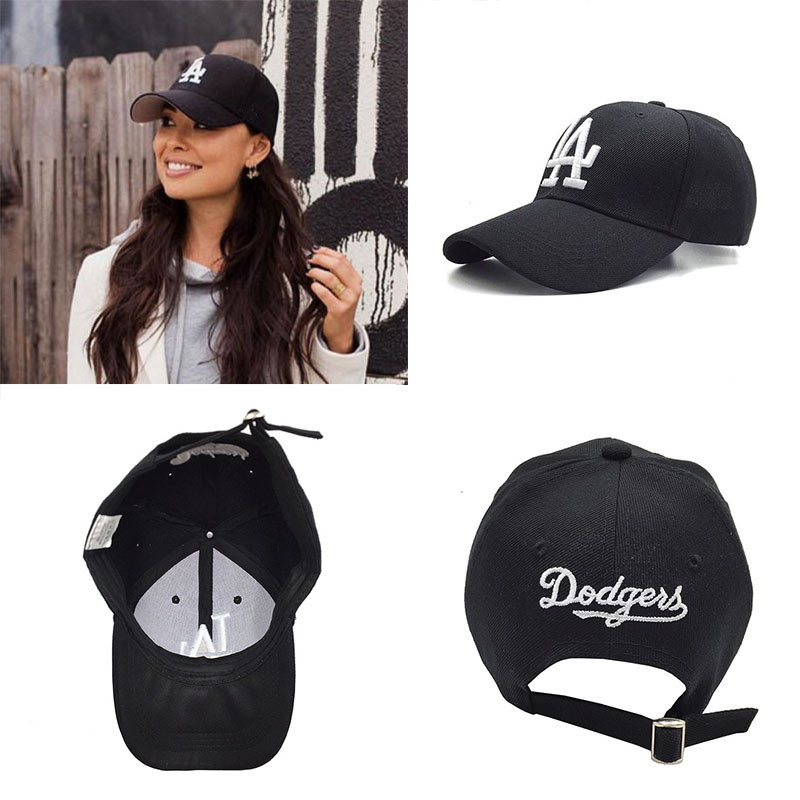 LA Dad Hat   Cap   For Men Women Black Adjustable Hat Adult Letter Printed   Baseball     Caps
