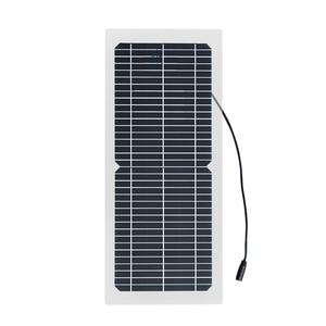 Image 2 - 18 v 10 ワット単結晶ソーラーパネル + 10A 充電コントローラバッテリー充電器キット + led ライト rv 車ボート観光ソーラーランプ 3 ワット