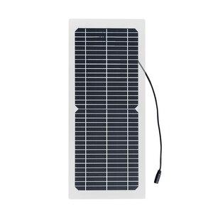 Image 2 - 18V 10W Monocrystalline 솔라 패널 + 10A 충전 컨트롤러 배터리 충전기 + LED RV 자동차 보트 관광 태양 램프 3W
