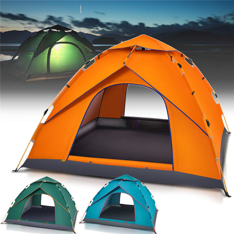 3 Colors 6 People Large Automatic Opening Tent Waterproof Outdoor Tent UV Resistant Folding Camping Hiking Tent Dome Design3 Colors 6 People Large Automatic Opening Tent Waterproof Outdoor Tent UV Resistant Folding Camping Hiking Tent Dome Design
