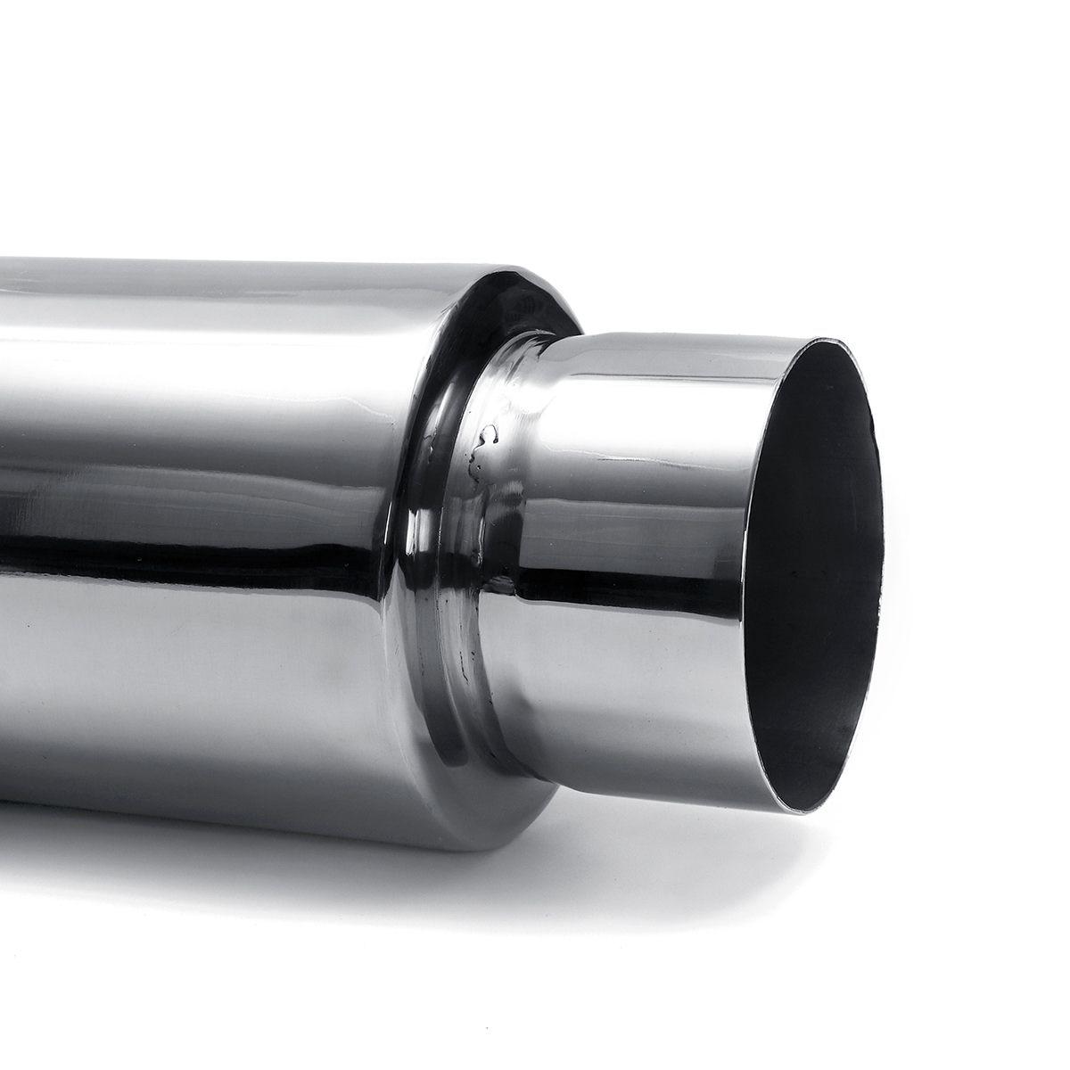 silenciador de escape universal para carro cano escape com saida 76mm 04