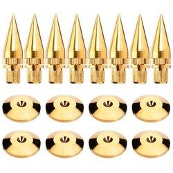 8 zestawów/paczka kolce głośnikowe M6 * 36 głośnik subwoofer stojak stopy czystej miedzi złote podkładki bazowe na głośniki hi fi głośnik rama w Akcesoria do głośników od Elektronika użytkowa na