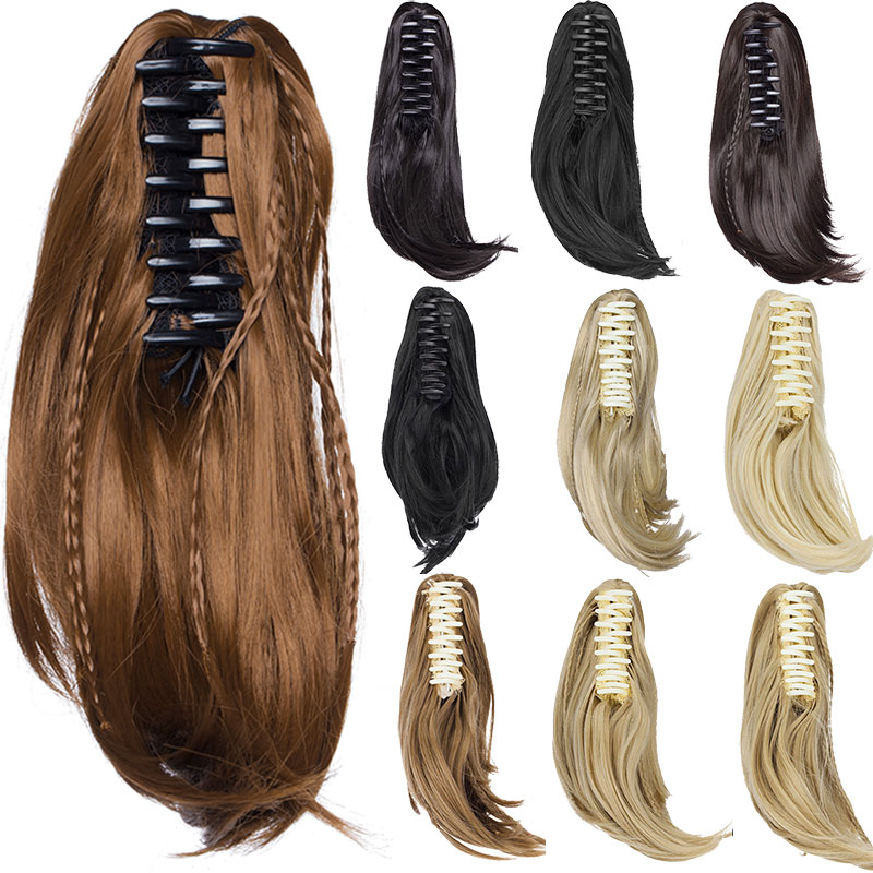 Synthetic Ponytails United Soowee 24inch Long Blonde Red Wavy Pony Tail High Temperature Fiber Claw Hairpiece Ponytail Synthetic Hair Extensions