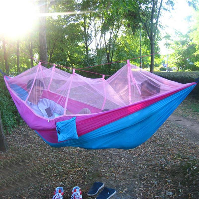 Mosquitoe Net Hammock Outdoor Travel Camping Hunting Hammock Adult Sleeping Bed Picnic Hanging Bed Hammock