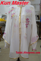 Custom Tai Chi Performance Uniform Plum Blossom Embroidery Martial Art Clothing For Kung Fu Three Pieces Veil Jacket And Pants