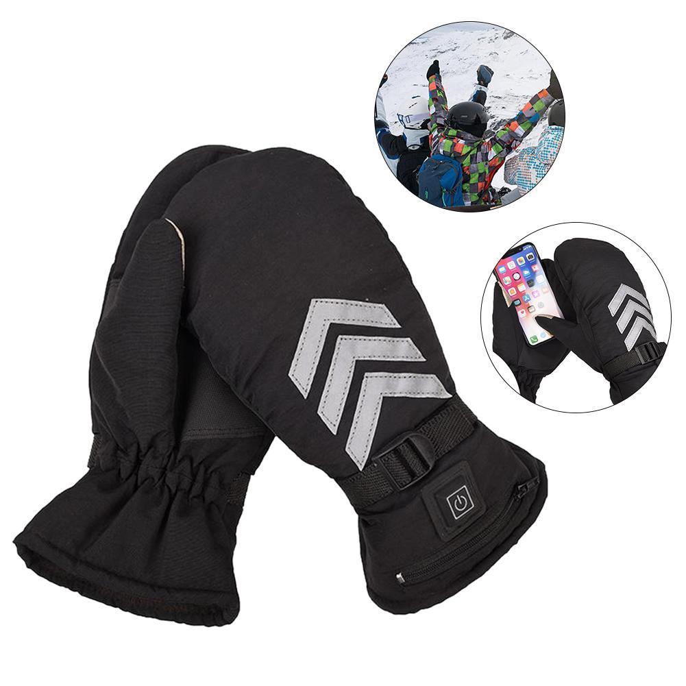 Gants chauffants électriques professionnels de moto gants de ski extérieurs rechargeables imperméables de main plus chauds